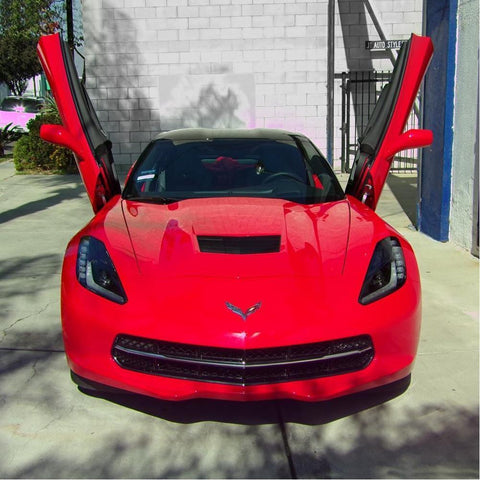 C7 Corvette Stingray Lambo Style Vertical Doors - Door Hinge Conversion Kit