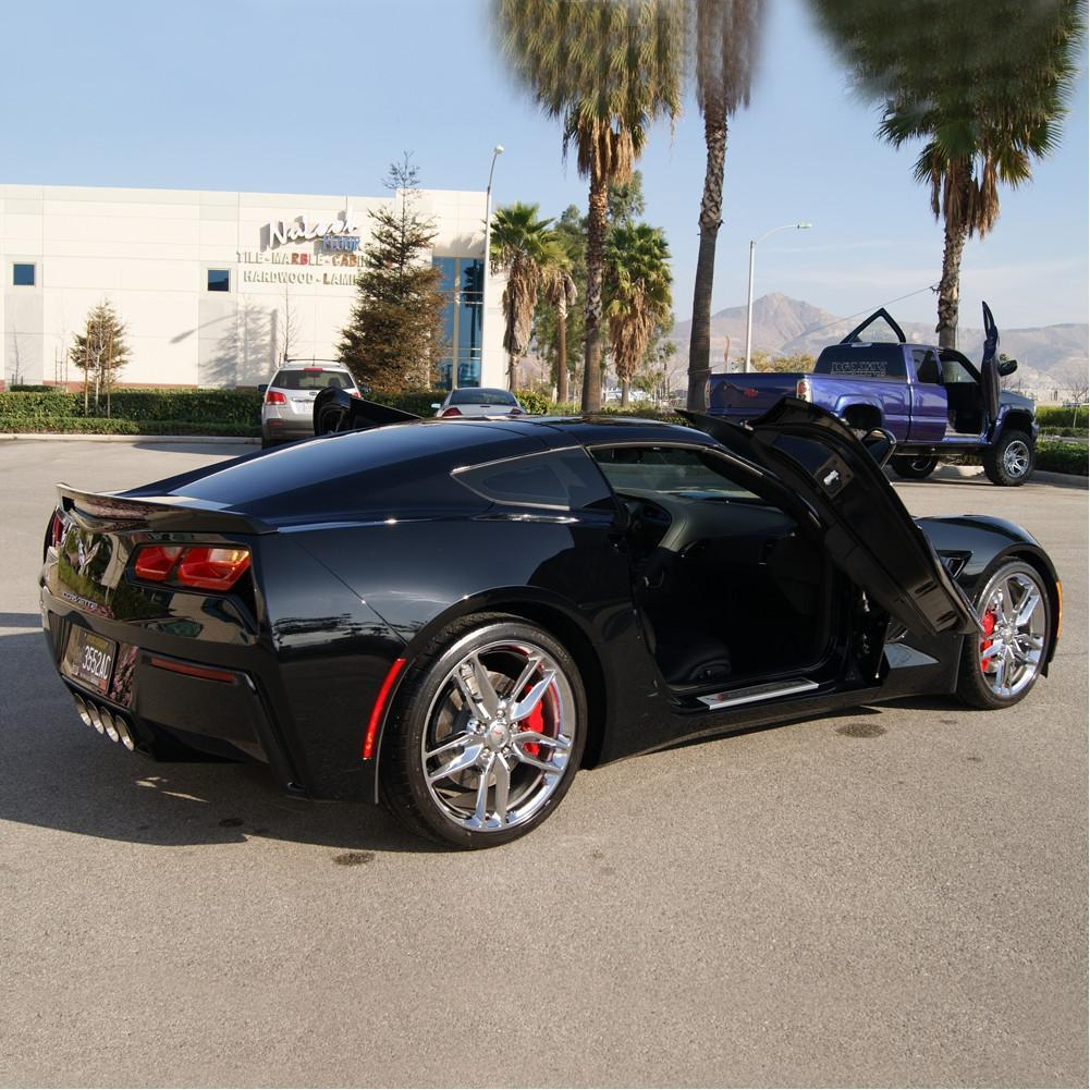 C7 Corvette Stingray Lambo Style Vertical Doors - ZLR Door Hinge Conversion Kit & C7 Corvette Stingray Lambo Style Vertical Doors - ZLR Door Hinge ...