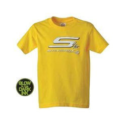 C7 Corvette Stingray Logo Youth Tee - Glow-in-the-Dark : Sunflower