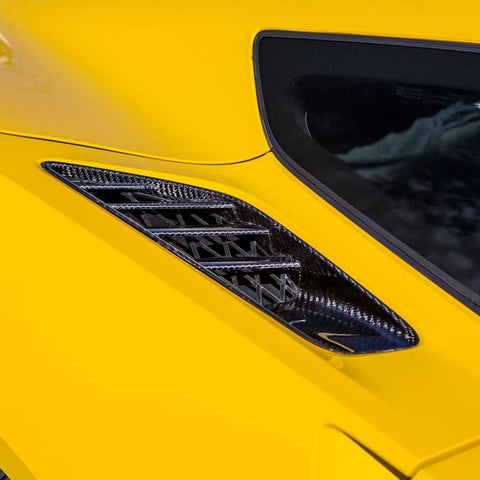 C7 Corvette Stingray Quarter Panel Vents - Carbon Fiber