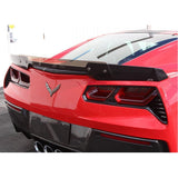 C7 Corvette Stingray Rear Deck Spoiler with Adjustable Wicker Bill - Carbon Fiber,Exterior
