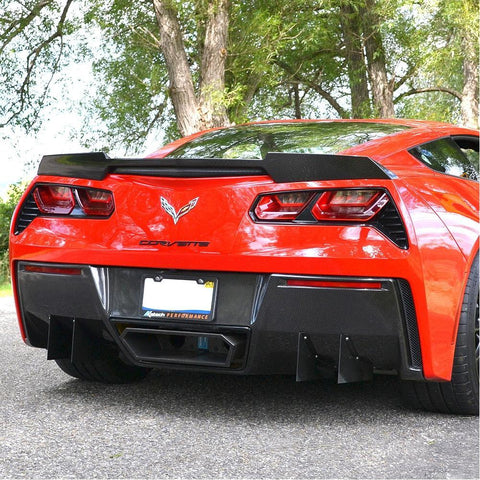 C7 Corvette Stingray Rear Diffuser only - Carbon Fiber Katech