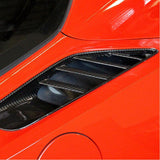 C7 Corvette Stingray Rear Quarter Vent Direct Fit - Carbon Fiber,Exterior