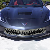 C7 Corvette Stingray Shark Tooth Front Grille Stainless Steel Overlay