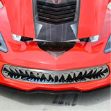 C7 Corvette Stingray Shark Tooth Front Grille Stainless Steel Overlay,Exterior