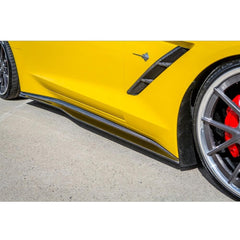 C7 Corvette Stingray Side Skirts - Carbon Fiber