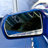 "C7 Corvette Stingray Side View Mirror with ""CORVETTE"" Script 2Pc : Auto-Dim Mirror"