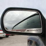 "C7 Corvette Stingray Side View Mirror with ""STINGRAY"" Script 2Pc : Auto-Dim Mirror"
