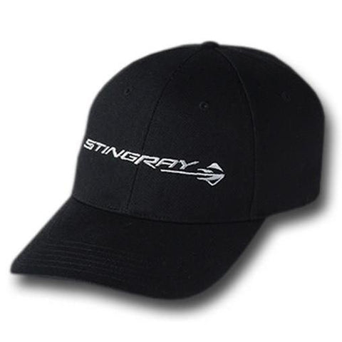 C7 Corvette Stingray Structured Cotton Twill Cap : Black