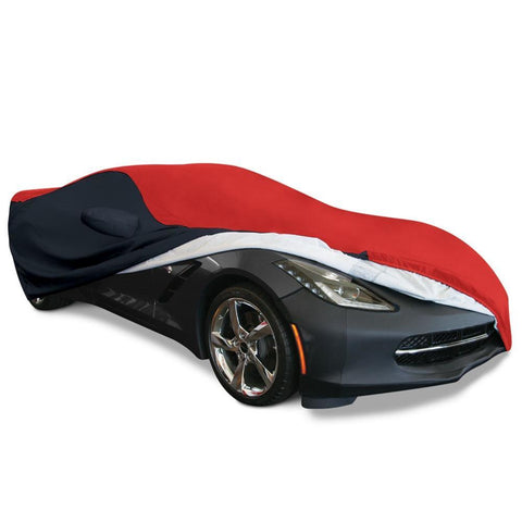 C7 Corvette Stingray Ultraguard Plus Car Cover - Indoor/Outdoor Protection : Red/Black,Car Care