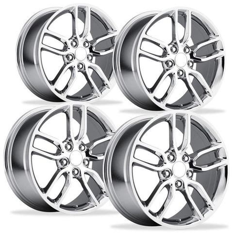 C7 Corvette Stingray Z51 Split Spoke GM (Set) : Chrome 2014+,Wheels & Tires