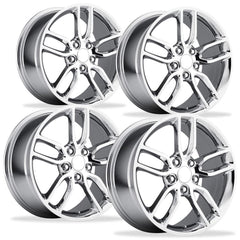 C7 Corvette Stingray Z51 Split Spoke GM (Set) : Chrome 2014+