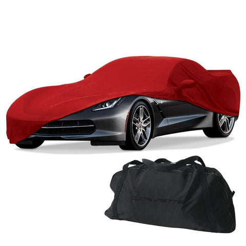 C7 Corvette Stretch Satin Indoor Car Cover w/ Flags Logo,Car Care