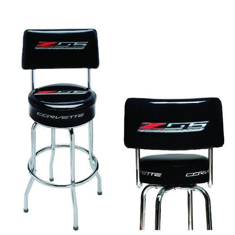 C7 Corvette Z06 Counter/Pub Stool w/Back