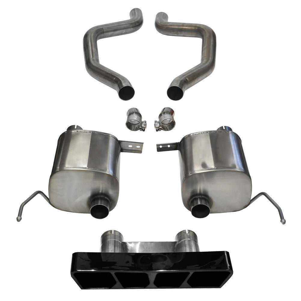 "Corsa Corvette Exhaust (14767BLK): 2 75"" Black Poly Tip"