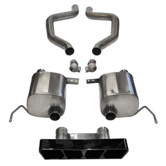 "Corsa Corvette Exhaust (14767BLK): 2.75"" Black Poly Tip Extreme Axle-Back, Center Rear Exit Exhaust System For C7 Corvette Z06"