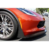 C7 Corvette Z06 Front Bumper Canards and Spats - Carbon Fiber
