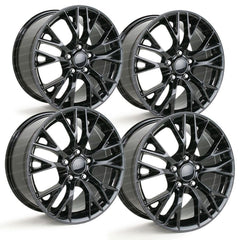 C7 Corvette Z06 Style Reproduction Wheels (Set) : Gloss Black