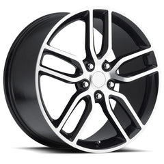 C7 Corvette Z51 Style Reproduction Wheels : Black w/Machined Face