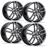 C7 Corvette Z51 Style Reproduction Wheels (Set) : Black Chrome,Wheels & Tires