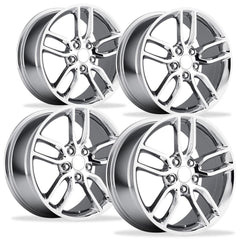 C7 Corvette Z51 Style Reproduction Wheels (Set) : Chrome