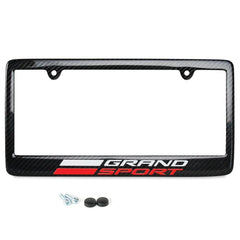 C7 Grand Sport Corvette License Plate Frame - Carbon Fiber