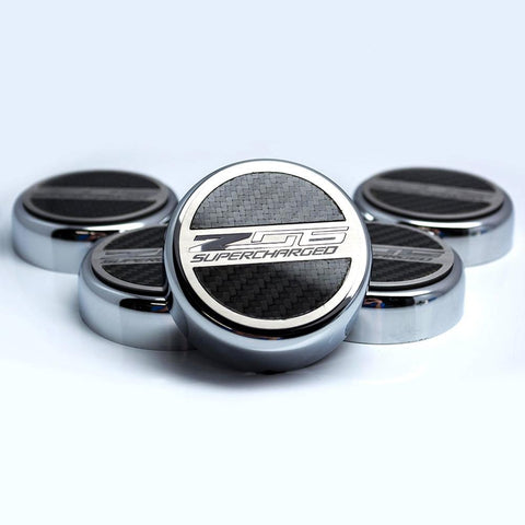 C7 Z06 Corvette Cap Cover Set - Chrome/Brushed/Carbon Fiber