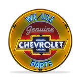 Chevrolet Neon Sign in a Metal Can : 36in