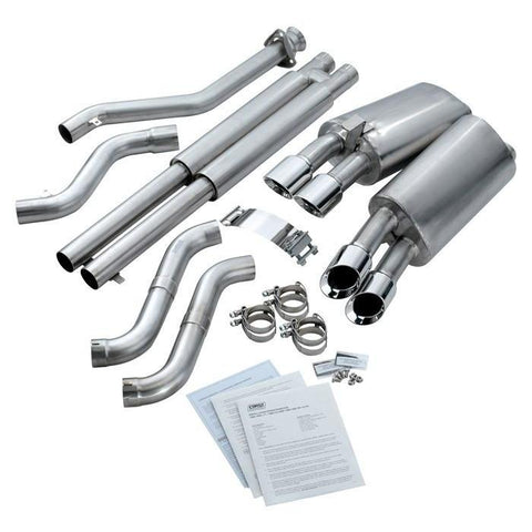"Corsa Corvette Exhaust (14116): 3.5"" Quad Round Pro Tip Axle-Back Corvette Exhaust For C4 Corvette"
