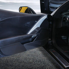 Corvette - Door Kick Panel - Clear Acrylic : C7 Stingray, Z51, Z06, Grand Sport, ZR1