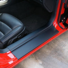 Corvette - Door Sill Ease/Protector - Inner Door Sill Guards Black : 2005-2013 C6, Z06, Grand Sport & ZR1