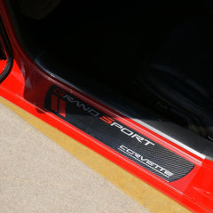 Corvette - Door Sill Ease/Protector - Inner Door Sill Guards Clear : 2005-2013 C6, Z06, Grand Sport & ZR1