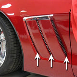 Corvette - Side Vent Grilles 6pc - Laser Mesh Stainless Steel : 2010-2012 C6 Grand Sport,Exterior