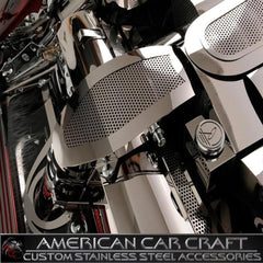 Corvette Air Tube Cover - Perforated Stainless Steel : 1997-2004 C5 & Z06