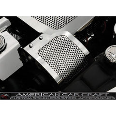 Corvette Alternator Cover - Perforated Stainless Steel : 2005-2013 C6 & Z06