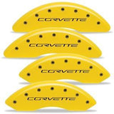 Corvette Brake Caliper Cover Set (4) - Body Color Matched : 2006-2013 C6Z06 & Grand Sport Only with Black Bolts and Script