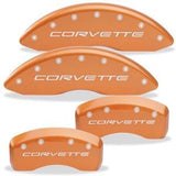 Corvette Brake Caliper Cover Set (4) - Body Color Matched : 2006-2013 C6Z06 & Grand Sport Only with Silver Bolts and Script
