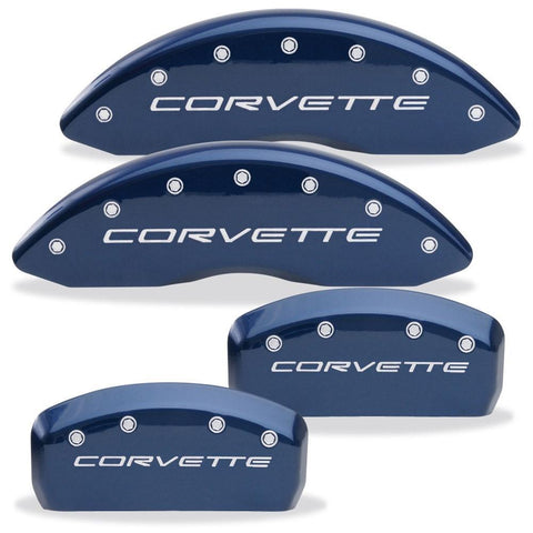 Corvette Brake Caliper Cover Set (4) - Body Color Matched with Silver Bolts and Script : 1997-2004 C5 & Z06,Brakes