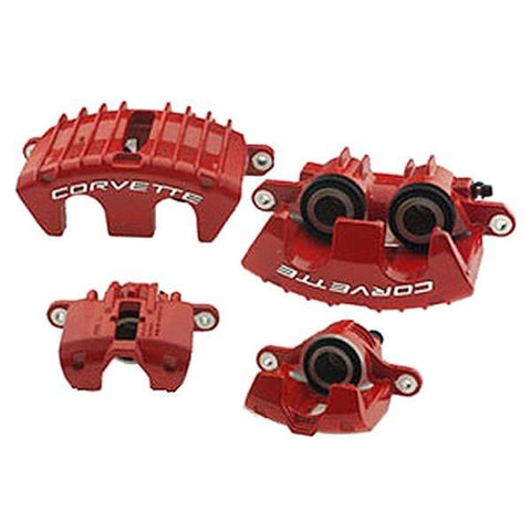 Corvette Brake Calipers - GM Z06 Red (Set) : 1997-2004 C5 & Z06