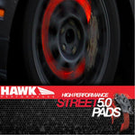 Corvette Brake Pads - Hawk High Performance Street 5.0 - Front : 2006-2013 Z06 & Grand Sport,Brakes