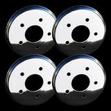 Corvette Brake Rotor Hub Covers - Chrome (Set) : 1997-2004 C5 & Z06,Brakes