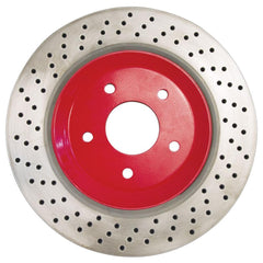 Corvette Brake Rotor Hub Covers - Red (Set) : 1997-2004 C5 & Z06