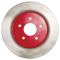 Corvette Brake Rotor Hub Covers - Red (Set) : 2005-2013 C6 Non-Z51