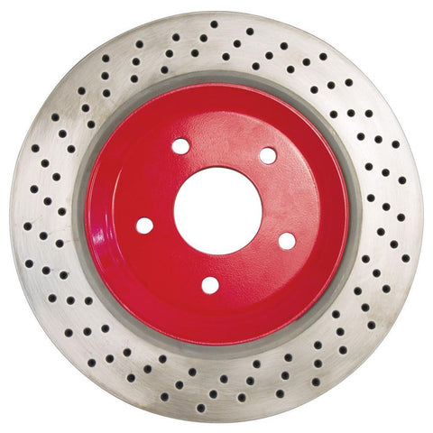 Corvette Brake Rotor Hub Covers - Red (Set) : 2005-2013 C6 Z51,Brakes