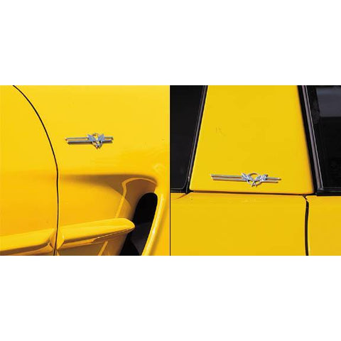 Corvette C5 Badges - Billet Aluminum Chrome (97-04 C5 / C5 Z06)