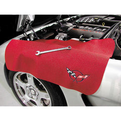 Corvette C5 Fender Protector (Red with Black C5 Emblem)