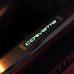 Corvette C6 Design - Inner Door Sill - Illuminated: 2005-2013 C6