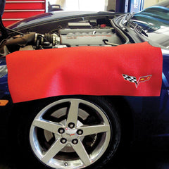 Corvette C6 Fender Protector (Red with Silver C6 Emblem)