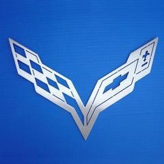Corvette C7 Wall Hanging Crossed Flag Emblem