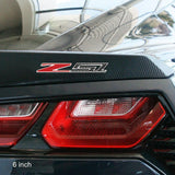 Corvette C7 Z51 Badge/Emblem - Domed - Carbon Fiber Look w/Chrome Trim: C7 Stingray Z51,Exterior
